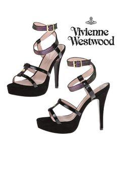 Vivienne westwood оригинал дизайнерские босоножки кожаные на шпильке и  платформе р.40 Vivienne Westwood,  8383603, Цвета  Чёрный, Размер  40.  Купить в Шафе ... dd33331fb93