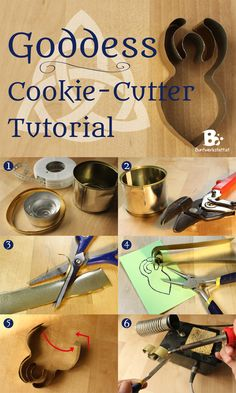 the BEST Goddess Cookie Cutter Tutorial - and many more awesome witchy crafts on this blog!