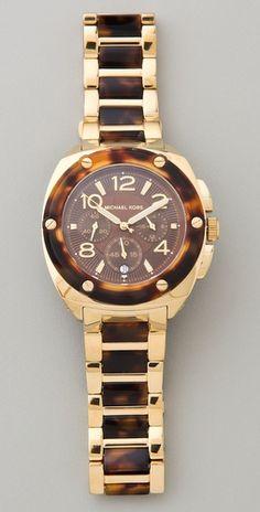 Twist~Michael Kor's designer tortoise shell watch
