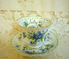 Royal Albert Flower of the month teacup by TreasuresFromTexas, $24.00