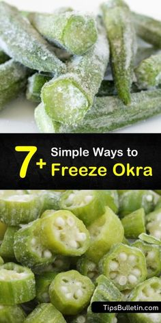 Freezing Vegetables, Fresh Vegetables, Fruits And Veggies, Canning Vegetables, Okra Recipes, Canning Recipes, How To Freeze Okra, Dehydrated Food