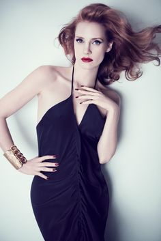 Jessica Chastain, photographed by Max Vadukul for YSL, 2012.