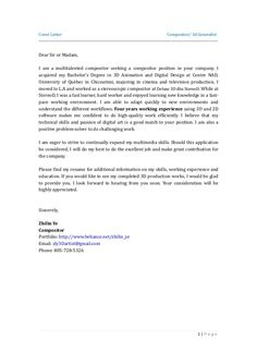 sir madam cover letter