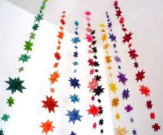 Create gorgeous garlands with a string of origami paper stars.