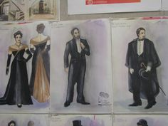 Costume designs for the #clevelandplayhouse production of The Little Foxes during the 2014-2015 season showing at the Allen Theatre. #art #drawing #design