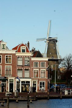 Leiden, Netherlands -- I lived here and saw this windmill everyday for a few months of my life.