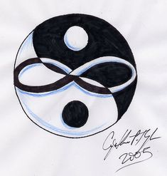 Yin Yang Infinity by ~lilmoongodess on deviantART