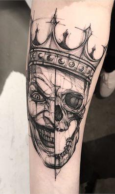 26 Black & Gray Awesome Tattoos by Bk_tattooer – Game of Spoons 26 Schwarz & Grau Tolle Tattoos von Bk_tattooer Wolf Paw Tattoos, Knuckle Tattoos, Skull Tattoos, Body Art Tattoos, Hand Tattoos, Sleeve Tattoos, Joker Tattoos, Maori Tattoos, Tatoos