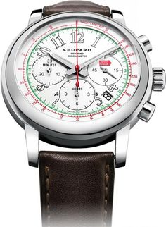 Chopard 168511-3036 Classic Racing Mille Miglia 2014 Chronograph - швейцарские мужские часы наручные, стальные, белые