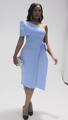 African Prom Dresses, Latest African Fashion Dresses, African Print Fashion, African Dress, Women's Fashion Dresses, Light Blue Dresses, White Maxi Dresses, Simple Dresses, Elegant Dresses
