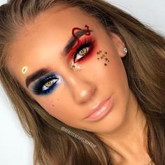 Are you looking for ideas for your Halloween make-up? Browse around this site for cool Halloween makeup looks. Demon Makeup, Angel Makeup, Scary Makeup, Funny Makeup, Cool Makeup Looks, Cute Makeup, Perfect Makeup, Helloween Make Up, Cute Halloween Makeup