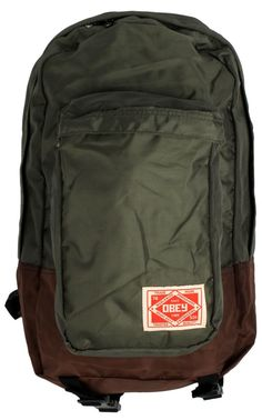 Obey Clothing Commuter Backpack - Army/Brown $40.00