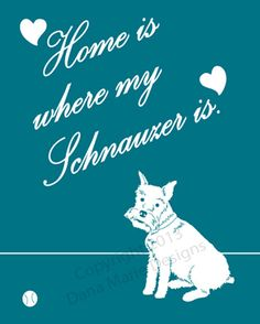 Home is where my Schnauzer is. by DanaMarieDesign on Etsy, $15.00