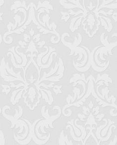 Graham & Brown Paintable Large Damask Wallpaper   2Modern Furniture & Lighting $21 Roll