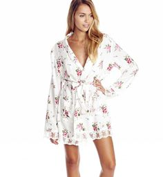Lover's Bouquet Lace Dressing Robe