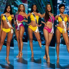 Yellow swimsuits from the Miss Universe 2018 Pageant Miss Universe Usa, Miss Universe Swimsuit, Miss Universe Dresses, Miss Universe Philippines, Miss Philippines, Pageant Tips, Beauty Pageant, Pageant Swimwear, Retro Swimwear