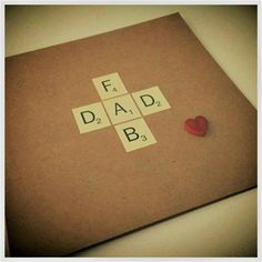 Father's Day Card, Fathers Day, Dad, Fab Dad, Scrabble Letters, Pop, Da, Daddy, Dada, Handmade in England UK by PaperScissorsStitch on Etsy Scrabble Letters, Flexibility Workout, England Uk, Fathers Day, Daddy, Pop, Unique Jewelry, Handmade Gifts, Etsy