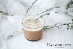 My lavender latte recipe is a combination of fresh lavender, almond milk , with a touch of stevia. A simple, vegan and of course pretty treat. Lavender Latte Recipe, Vegan Gluten Free, Vegan Vegetarian, Almond Milk Coffee, Stevia, Panna Cotta, Treats, Drinks, Ethnic Recipes
