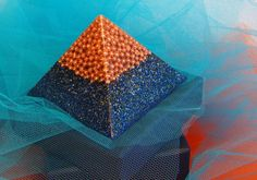 Orgone Medium Pyramid with gold plated by OrgoniteCreations, €70.00