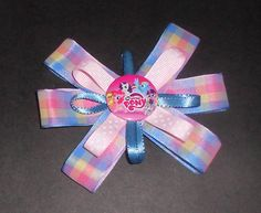 Girls Boutique Hair Bow 60mm French Barrette Clip  Handmade, My Little Pony, Rainbow Bow, Rainbow Dash Hair Bows, Girls Bows, Hair Barrettes by TrendyCharm on Etsy