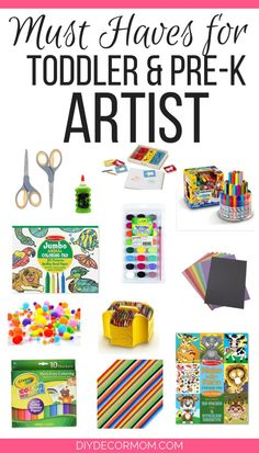 Art Gifts for Preschoolers Toddler Art Supplies, Preschool Supplies, Kids Craft Supplies, Preschool Gifts, Preschool Art, Toddler Gifts, Gifts For Kids, Toddler Toys, Art And Craft Materials
