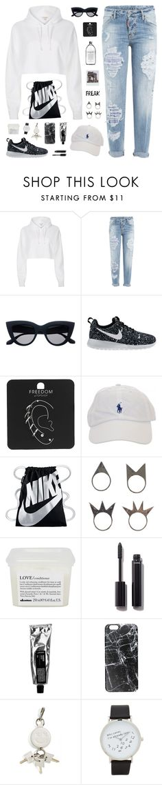 """""""#568 The Athleisure Wear"""" by everydaydiscovery ❤ liked on Polyvore featuring River Island, Dsquared2, NIKE, Topshop, NLY Accessories, Davines, Chanel, Casetify, Alexander Wang and ALDO"""