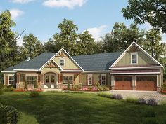 019H-0162: Spacious Craftsman House Plan with Split Bedrooms
