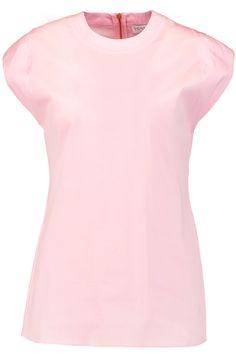 VIONNET Stretch cotton-blend poplin top. #vionnet #cloth #top