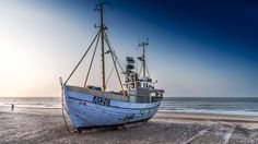 Boat at Slettestrand by ole