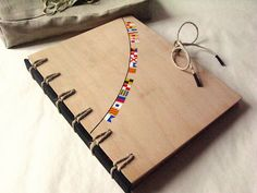 Secret Belgian Binding Book with Aucoumea wood covers. by askida, via Flickr