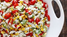 SUMMER TOMATOES, CORN, CRAB & AVOCADO SALAD❤️