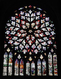 Sens Cathedral Rose Window | It was begun in 1140 and belong… | Flickr