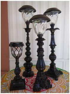 Diy Solar, Solar Light Crafts, Solar Lamp, Garden Crafts, Garden Projects, Diy Projects, Solaire Diy, Solar Licht, Light Project