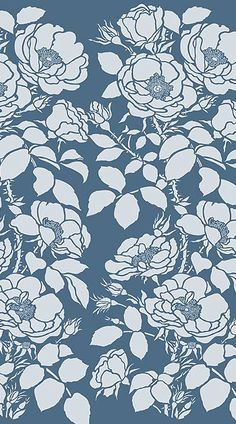 Home - Henny Donovan Motif Flower Patterns, Flower Designs, Textures Patterns, Print Patterns, Rose Stencil, Print Wallpaper, Blue Tones, Cute Pattern, Surface Pattern
