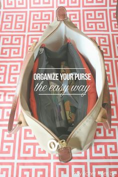 Easy way to organize your purse #organization