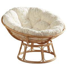 Papasan Taupe Chair Frame with Cushion Boho Living Room, Living Room Chairs, Teen Bedroom Chairs, Bedroom Boys, Circle Chair, Papasan Chair, Swivel Chair, Chair Cushions, A Frame Cabin
