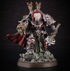 Chaos Lord of Slaneesh from France Warhammer 40000, Warhammer 40k Figures, Warhammer Paint, Warhammer Models, Warhammer 40k Miniatures, Chaos 40k, Chaos Lord, Space Marine, Blood Bowl