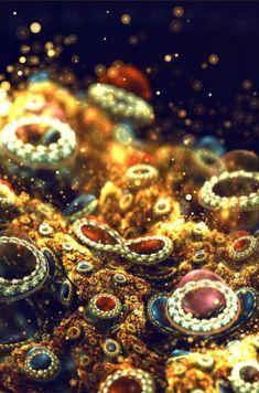 Beautiful fractal art by an Italian designer Silvia Cordedda Computer Kunst, Computer Art, Generative Kunst, Cosmos, Fractal Patterns, Italian Artist, Fractal Art, Sacred Geometry, Geometry Art