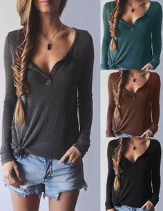 The Free Love Top is made in four color and features ribbed knitting,deep V neck and long sleeves with great stretch. Put this fall must-haves into your wardrobe from CUPSHE.COM