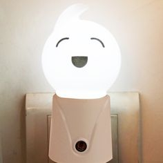 [$1.84] Doll Shape Light-operated LED Night Light, EU Plug (White)
