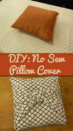 No sew pillow cover. This looks great. Now all I need to figure out is how to make the square knot. :)