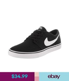 81b918d2df89c Casual Men s Nike Sb Portmore Solarsoft Black White Skateboard Sneakers  Shoes  ebay  Fashion