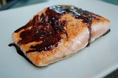 Salmon with Red Wine Balsamic Sauce