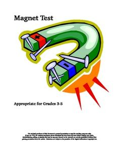 Your class has just completed an investigation on magnets, and it is test time. Here is a fifteen question quiz that utilizes at least four levels ...
