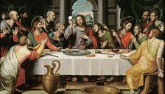 Celebración de la Última Cena por el pintor Juan de Juanes (1562, Museo del Prado), cuadro en el que Jesucristo parece sostener la propia luna llena.