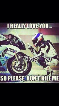 Next Page of Motorcycle & Biker Quotes Ducati, Motorcycle Memes, Dirtbike Memes, Motocross Funny, Motocross Videos, Women Motorcycle, Racing Motorcycles, Motorcycle Bike, Street Bikes