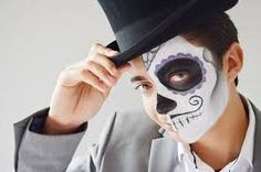 of the Dead Face Painting Tutorial For Boys Celebrate the spiritual holiday with sugar skull face paintCelebrate the spiritual holiday with sugar skull face paint Happy Halloween Quotes, Halloween Wishes, Halloween Sayings, Boy Halloween, Halloween Costumes, Halloween Crafts, Halloween Ideas, Sugar Skull Face Paint, Sugar Skull Makeup