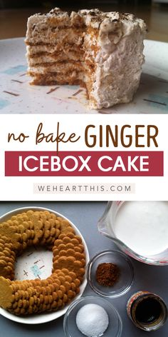 Looking for an easy icebox cake recipe? This yummy ginger icebox cake recipe will leave you coming back for more. Enjoy this delicious icebox cake recipe today! Cake Recipes Ginger, Icebox Cake Recipes, Best Dessert Recipes, Brownie Recipes, Cupcake Recipes, Chocolate Recipes, Easy Desserts, Fall Recipes, Easy Dinner Recipes
