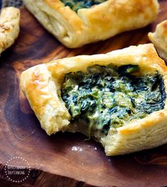 Spinach Alfredo Puff Pastry - Swanky Recipes