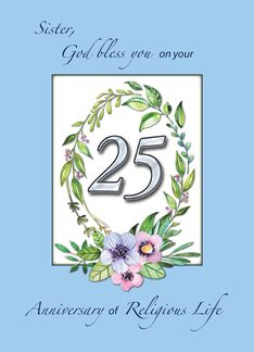 25th Anniversary of Catholic Nun Wreath and Silver Number (1456120)
